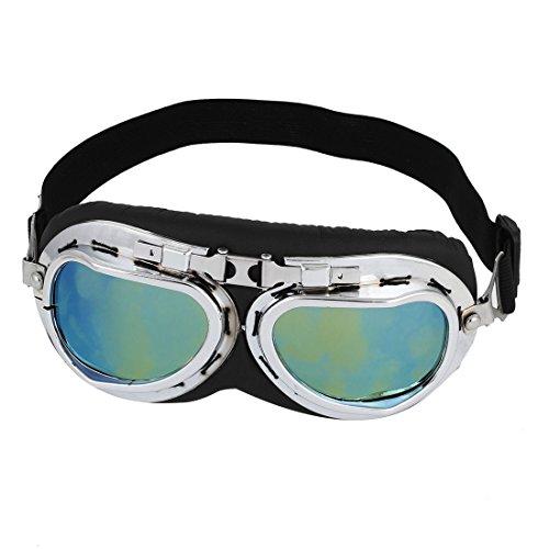 Preisvergleich Produktbild sourcingmap® Unisex verstellbare elastische Kopf Gurt Motorrad getönte Brille Sonnenbrille de