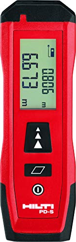 Hilti PD S – Telémetro láser Medidor de distancia – 0,02 hasta 60 m, funcionamiento manual, Display