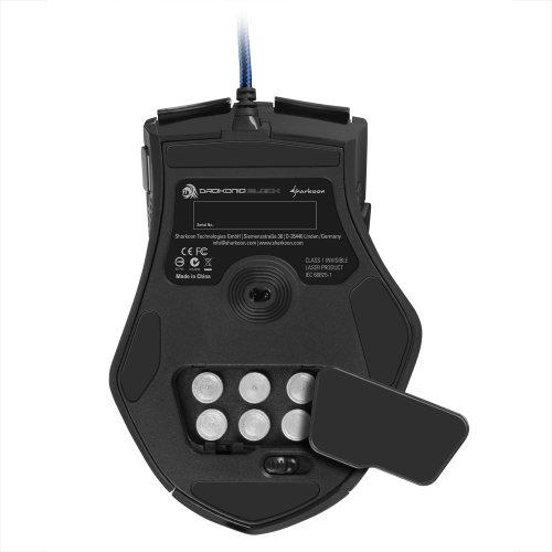 Sharkoon Drakonia Black Gaming Laser Maus 8200 dpi (11 Tasten) schwarz - 5