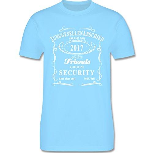 JGA Junggesellenabschied - JGA Groom Security 2017 Lettering - Herren Premium T-Shirt Hellblau