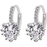 Charming Women's Sterling Silver Ear Hoop Earrings Ear Stud by Zhejia