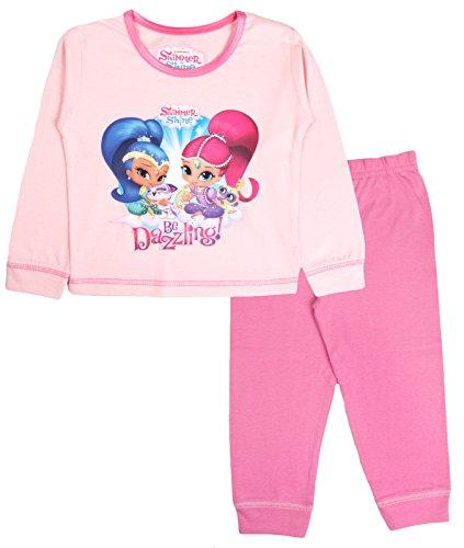 Shimmer & Shine Girls Pyjamas Full Length PJS Set Kids Toddlers Nightwear Size UK 1-4 Years