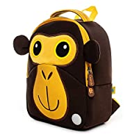 Toddler Backpack Nursery Kids Bag Children School Bags Animal Cartoon Safety Anti-Lost Harness Backpack with Reins by Cocomilo(Monkey)