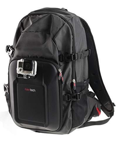 Navitech Zaino per Action Cam E Kit Combinato di Accessori 8 in 1 con Fascia Toracica Integrata Compatibile con Topop OD009B-SVESK3 | Toshiba Camileo X-Sports | Uvistar Sports Action Cam
