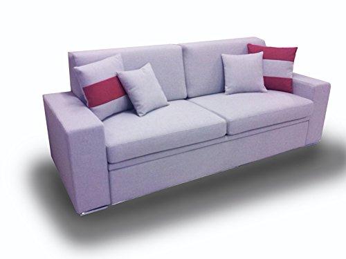 Ponti-Divani-BLACK-Divano-letto-singolo-con-letto-estraibile-Tessuto-Rete-a-doghe-larghe-e-Materasso