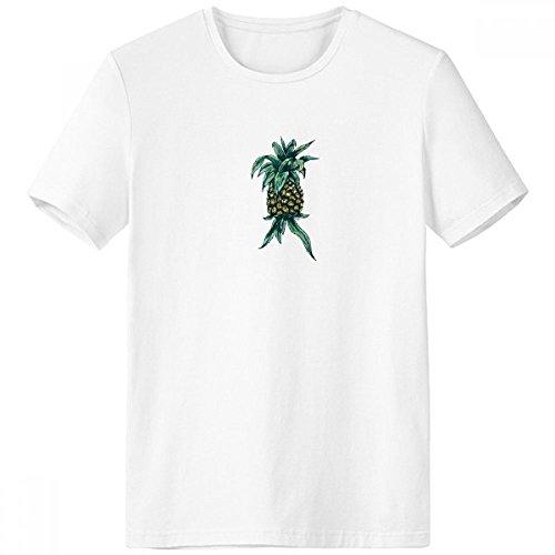 DIYthinker Ananas-Anlage Essen Sie Frucht Grün Rundhals Weiße T-Shirt Frühlings-Sommer-Tagless Comfort Sport-T-Shirts Geschenk - Multi - XXL - Frucht-anlage