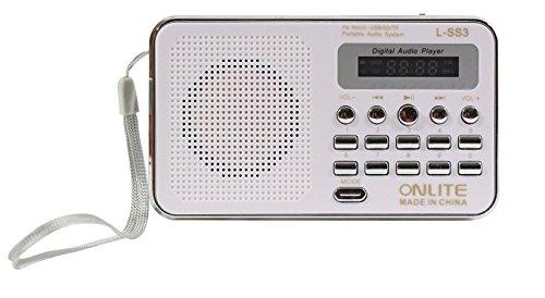Lemish LED Display Mini Speaker Portable FM Radio Player L-SS3-White