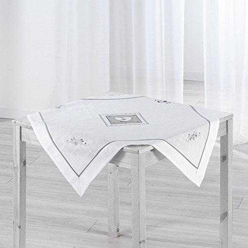 Couleur Montagne Nappe carrée Polyester, Blanc, 85x85 cm