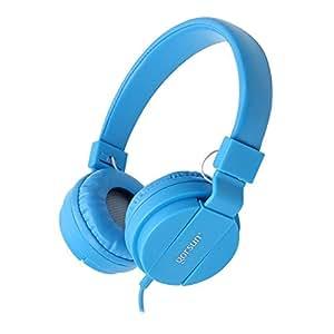 ONTA® Cuffie per Bambini, Pieghevoli Leggere On Ear Auricolari per Bambini Ragazzi e Ragazze, Comode Audio Cuffie per Bambina per Cellulare/Smartphone/Tablet/Mp3-Blu