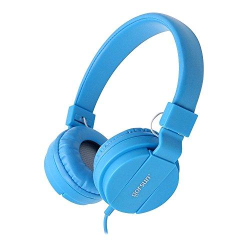 ONTA® gorsun Kopfhörer Kinder Faltbarer Leichte Headsets für Kinder On Ear Audio Kopfhörer für Kinder Handys Smartphones iPhone Laptop Computer mp3/4 Kinder Kopfhörer- Blau