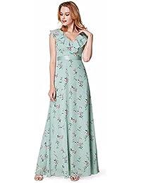 2ac9558226 Ever Pretty Women s V Neck Floral Printed Summer Chiffon Evening Bridesmaid  Dresses 07241