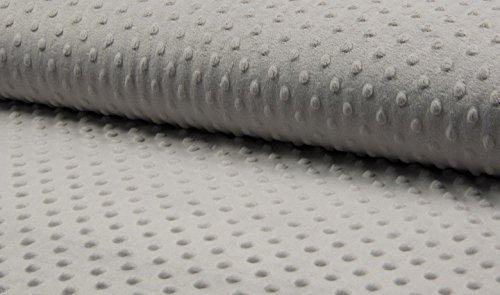 Dot Robe (Winky Dot Fleece-Stoff, kuschelweich, 150 cm breit, silbergrau, Meterware)