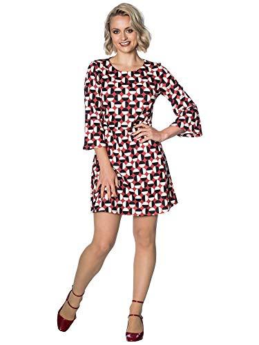 Banned Retro Kleid Mod Circles Dress DR5540 Mehrfarbig L