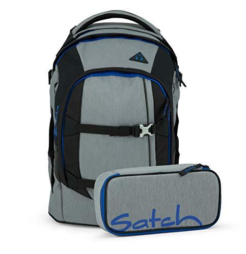 Satch Pack 2er Set Schulrucksack & Schlamperbox - Grey Ray, 30 Liter, 1,2 kg