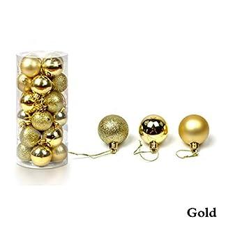 TJW-24-Stck-bruchsichere-Kunststoff-Kugel-Ornamente-Weihnachtsbaumkugeln-Anhnger-Dekorationsset-mit-Box-GlitzerLicht-matt-3-Verschiedene-Polierte