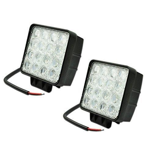 Leetop 2x LED 48W Lámpara de Trabajo como Luces de Carretera de...