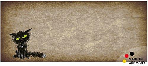 matches21 Küchenläufer Teppichläufer Teppich Läufer lustige Katze nach Steckdose 50x120x0,4 cm maschinenwaschbar