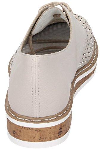 Rieker Damen Schnürer, Chaussures Pour Femmes Grau Grau Grey