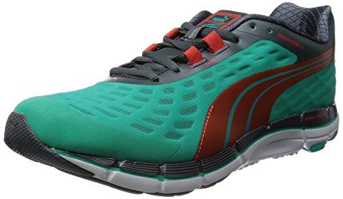 Puma - Zapatos para correr para hombre, Pool Green/Grenadine/Turbulenc