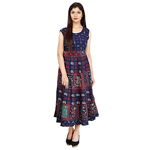 Saba Dream collection Pure Cotton Printed Long Free Size Kurti/Dress with adjustable...