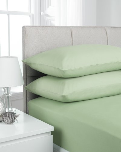 Hamilton McBride 68 Pick Polycotton Willow Double Fitted Sheet (Pillowcases Sold Separately)