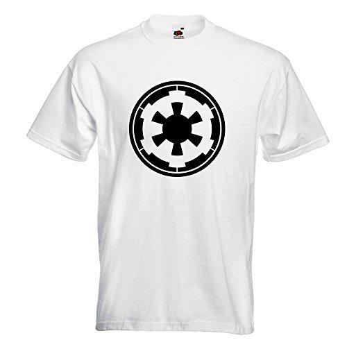 Kiwistar Galaktisches Imperium T-Shirt in 15 verschiedenen Farben Herren Funshirt bedruckt Design Sprüche Spruch Motive Oberteil Baumwolle Print Größe S M L XL XXL Weiß