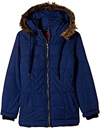 Fort Collins Girls Regular Fit Synthetic Jacket (r1087_Navy_30 (10 - 11 years))