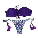 b332b07907a1 MOIKA Donne Push-up Reggiseno Imbottito Spiaggia Bikini Set Costume da Bagno,  Halter Push