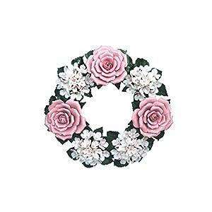 Flores Artificiales Hortensia Rosas – Corona Cerámica – Decoración Floral para el hogar y jardín – Flores de tumbas – Flores funerarias – Flores de Cementerio – Resistente a la Intemperie