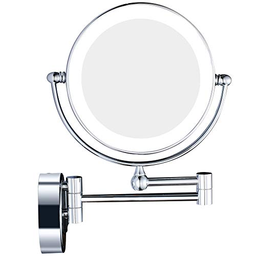 Makeup Mirror Lighted Vanity Makeup Mirror mit 7X/1X Vergrößern und LED-Licht Bad 8