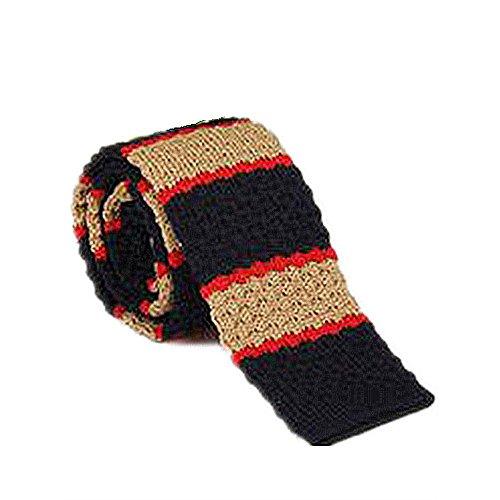 Tie Freizeit Männer gestreifte Krawatte Wolle Flache Krawatte Schmale Version der Krawatte Schmale Strick Krawatte Wolle Krawatte -