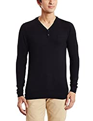 Flying Machine Mens Viscose Sweater (8907259131498_FMSW4249_Large_Black)