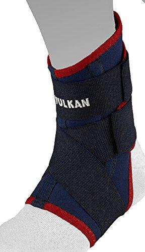 Vulkan Ankle Strap - Protección de tobillos, tamaño L, color azul marino / rojo