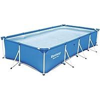 Bestway Steel Pro Frame rechteckig Pool, ohne Pumpe, blau, 400 x 211 x 81 cm