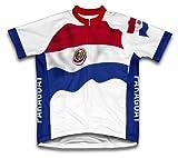 Paraguay Drapeau à manches courtes Maillot de cyclisme pour femme Large Blanc - blanc