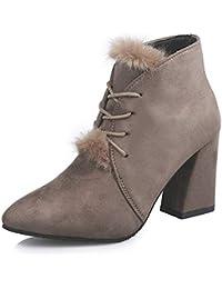 Zapatos Complementos es Botas Y Mujer Piel Amazon Para qBPatgTn