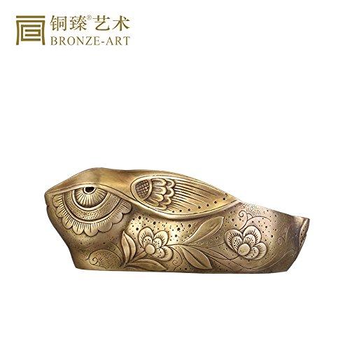 XOYOYO Zhen aus reinem Kupfer Kupfer Kupfer Aschenbecher kreative Wohnzimmer Couchtisch Ornamente chinesischen Kaninchen Office Desktop Ornamente