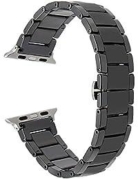 TRUMiRR Bracelet de Céramique Complet + Barre de Ressort Adaptateurs pour 42mm iWatch Montre Apple / Sport / Edition Bracelet Bandoulière Tous les liens Amovible (pas de vis)
