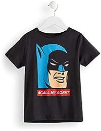 Marque Amazon - RED WAGON T-Shirt Batman Garçon