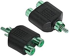 RCA 1 Male to 2 RCA Female Audio Video Splitter Adapter