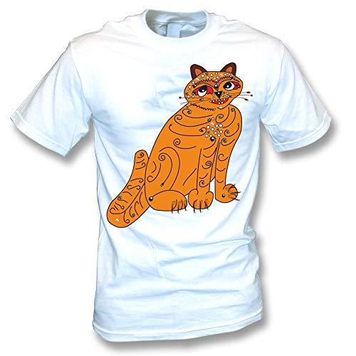 Orange Cat (As Worn by Anni-Frid Lyngstad, ABBA) T-Shirt, S to 4XL