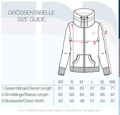 DESIRES Vicky Zipper Damen Sweatjacke Jacke Sweatshirtjacke Mit Stehkragen, Größe:XS, Farbe:Wine Red (0985) - 6