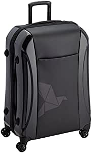 Pack Easy Biarritz expandable Suitcase 4 wheels made from Polycarbonat & Polyester 77 cm 105L black