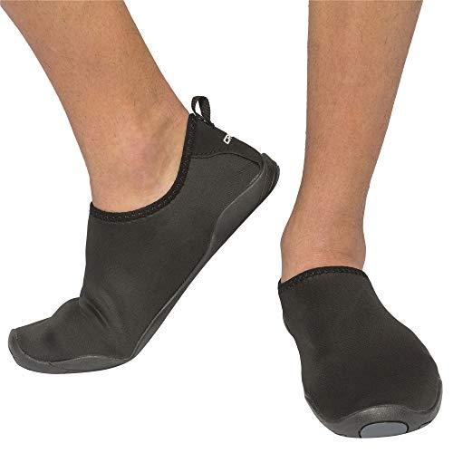 Cressi black aqua lombok scarpe da acqua in neoprene, nero/nero, 43
