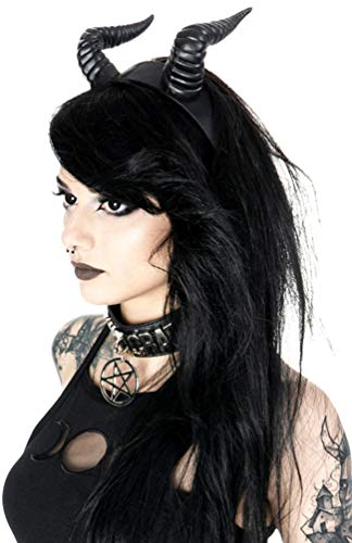 Restyle Gothic Beleth Stirnband Nugoth Satan Hörner Kopfbedeckung