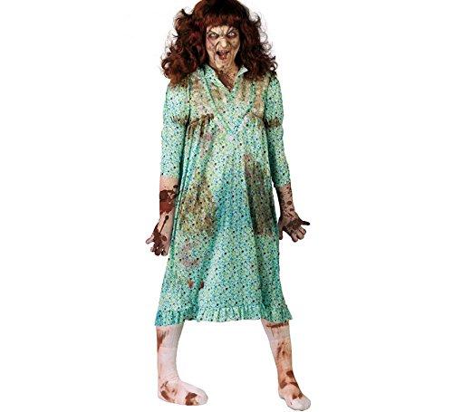 Besessene im Nachthemd Exorzismus Kostüm für Damen Halloween blutig Gr. M/L, Größe:M (Gruseliges Kostüm Nachthemd)