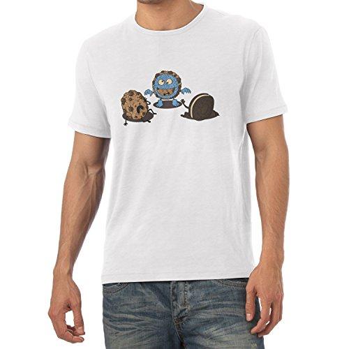 TEXLAB - Monster Prank Cookie - Herren T-Shirt, Größe M, (Elmo Kürbis)