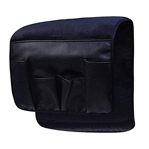HKS Samt-Anti-Rutsch-Epoxid-Sofa Couch Stuhl Armlehne Soft Caddy Organizer Handy, Bücher, Zeitschriften Bleistift oder TV Fernbedienung Halter, Schwarz, 34 x 13 inches (Handy-couch)