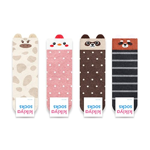 Preisvergleich Produktbild Niedliche Tiersocken - Fox, Giraffe, Waschbär, Huhn