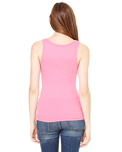 Bella Damen Sheer Jersey länger Länge Tank Top. 8780 Rosa - Very Pink